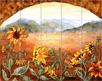 Sunflower Field Mural Linda Paul