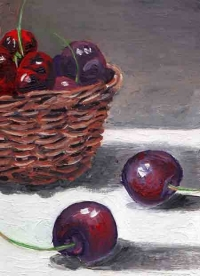 Basket and cherries
